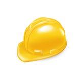 Hård hatt för arbetare som isoleras på vit stock illustrationer