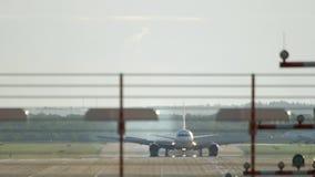 Hård landning för flygplan lager videofilmer