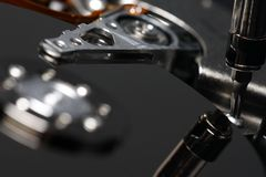hård reparation för disk Arkivfoton