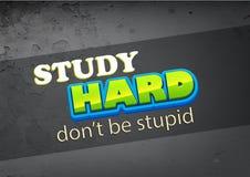 hård study stock illustrationer