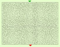 Hårda fyrkantiga Maze Template Royaltyfri Fotografi