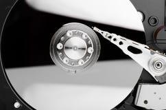 Hårddisk som är nära upp med reflexion Fotografering för Bildbyråer