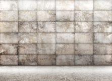 Hårdna den belade med tegel väggen, inre tolkning för bakgrund 3d vektor illustrationer