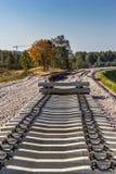 Hårdna järnväg sleepers Royaltyfria Bilder