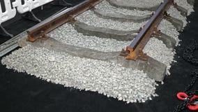 Hårdna järnväg sleepers Royaltyfri Fotografi