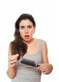 hårförlust Fotografering för Bildbyråer