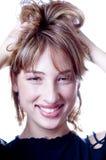hårhandkvinna royaltyfri bild