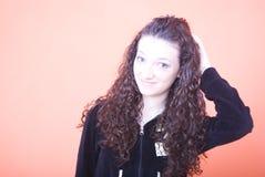hårhandkvinna royaltyfri fotografi