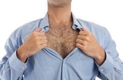 hårig bröstkorg Arkivbild