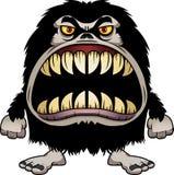 Hårigt monster för ilsken tecknad film Royaltyfria Bilder