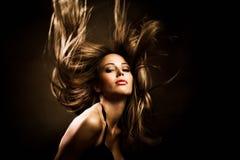 hårrörelse Fotografering för Bildbyråer