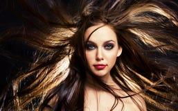 hårrörelse Arkivfoto