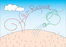 hårreparation vektor illustrationer