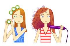 hårstil vektor illustrationer