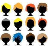 hårstilar royaltyfri illustrationer