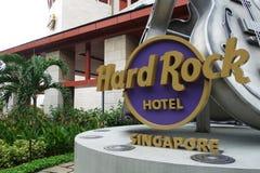 Hårt vagga hotellet Sentosa royaltyfri bild