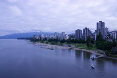 Hébergez le taxi (ferry) tirant dans le dock, Vancouver, AVANT JÉSUS CHRIST Photo libre de droits