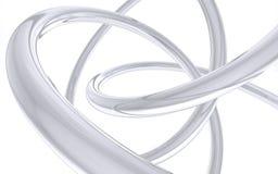 Hélice curvada do cromo Fotografia de Stock