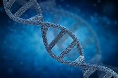 Hélice de la DNA o estructura de la DNA Imagen de archivo