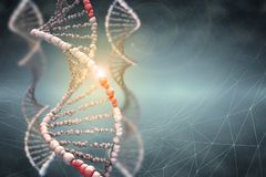 Hélice de la DNA Tecnologías innovadoras en la investigación del genoma humano stock de ilustración