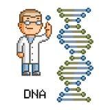 Hélice do ADN da arte do pixel Fotos de Stock Royalty Free