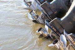 Hélice do barco no rio Fotografia de Stock Royalty Free