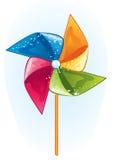 Hélice do moinho de vento dos desenhos animados Imagens de Stock