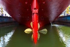 Hélice do navio fotografia de stock