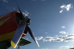 A hélice em um fundo do céu azul Fotografia de Stock