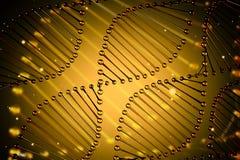 Hélice jaune diagonale d'ADN illustration de vecteur
