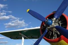Hélice no céu azul Imagens de Stock