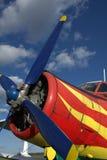 Hélice no céu azul Foto de Stock