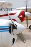 Hélices dos voos charter imagem de stock royalty free