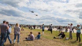 Hélicoptère à un airshow Image libre de droits