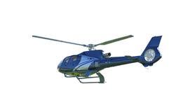 Hélicoptère au-dessus de hangar Image stock