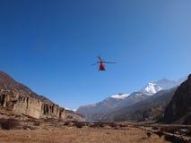Hélicoptère au Népal Photographie stock