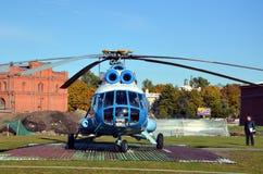 Hélicoptère baltique de lignes aériennes, décollage Image libre de droits