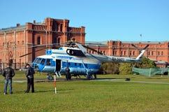 Hélicoptère baltique de lignes aériennes, St Petersburg Photographie stock libre de droits