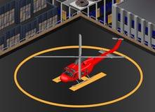Hélicoptère Bell-412 isométrique illustration libre de droits