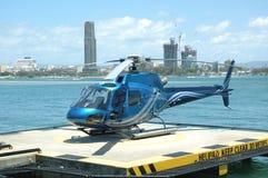 Hélicoptère bleu Photos libres de droits