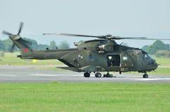Hélicoptère britannique de MERLIN Images libres de droits