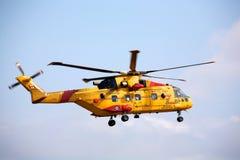 Hélicoptère canadien de sauvetage de forces Images libres de droits