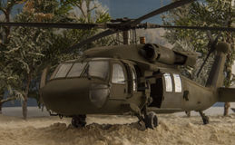 Hélicoptère chaud noir Image libre de droits