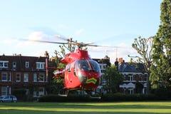 Hélicoptère d'ambulance aérienne Photo libre de droits