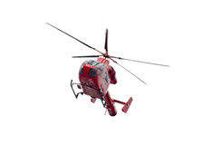 Hélicoptère d'ambulance d'air d'isolement sur le blanc Images libres de droits