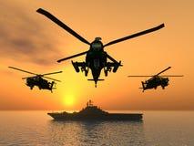 Hélicoptère d'Apache Illustration de Vecteur