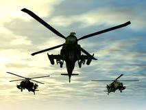 Hélicoptère d'Apache Photo stock
