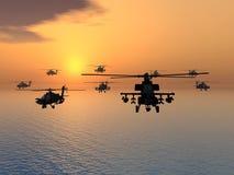 Hélicoptère d'Apache Photos stock
