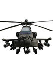 Hélicoptère d'Apache d'isolement Image libre de droits