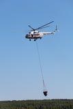 Hélicoptère d'incendie Photographie stock